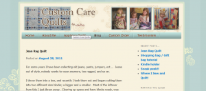 contact me - custom care quilts snapshot