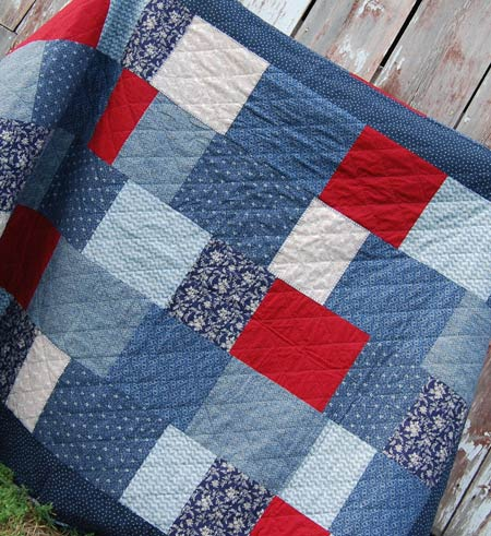 completed block quilt